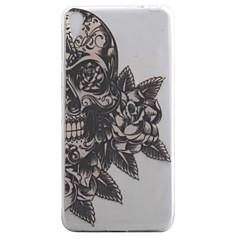 Til Sony Xperia e5 xa coveret kranium blomstermønster høj permeabilitet maleri tpu materiale telefon taske