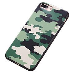 Kompatibilitás iPhone 7 tok iPhone 7 Plus tok iPhone 6 tok tokok Ütésálló Minta Hátlap Case Álcázás Puha Hőre lágyuló poliuretán mert