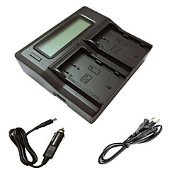ismartdigi blf19 lcd double chargeur avec câble de charge de voiture pour les batterys de caméra ag-GH4 de Panasonic DMW-blf19 lumix