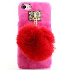 Voor Strass hoesje Achterkantje hoesje Effen kleur Hard Textiel Apple iPhone 7 Plus / iPhone 7 / iPhone 6s Plus/6 Plus / iPhone 6s/6