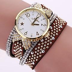 preiswerte Tolle Angebote auf Uhren-Damen Armband-Uhr Armbanduhr Simulierter Diamant Uhr Quartz leuchtend Cool Punk PU Band Analog Charme Glanz Retro Schwarz / Weiß / Blau - Rot Blau Rosa / Imitation Diamant