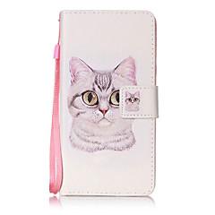 A huawei p8 lite p9 tokburkolat macska minta festési kártya stent pu bőr