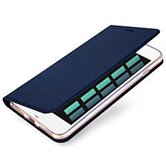 Недорогие Кейсы для iPhone 7-Кейс для Назначение Apple iPhone X / iPhone 8 / iPhone 7 Бумажник для карт Чехол Однотонный Твердый Кожа PU для iPhone X / iPhone 8 Pluss / iPhone 8