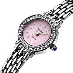WWOOR Women's Fashion Watch Quartz Water Resistant / Water Proof Stainless Steel Band Charm Casual Silver