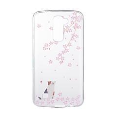 Недорогие Чехлы и кейсы для LG-Кейс для Назначение LG G3 LG K8 LG LG K10 LG K7 LG G5 LG G4 С узором Кейс на заднюю панель Кот Мягкий ТПУ для LG V20 LG V10