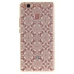 Voor huawei p9 lite p8 lite tpu materiaal imd proces kant bloemen patroon telefoon hoesje voor y6ii geniet van 5 eer 8