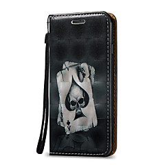 tanie Etui do iPhone 6 Plus-Kılıf Na Apple Etui iPhone 5 iPhone 6 iPhone 7 Etui na karty Z podpórką Flip Pełne etui Czaszki Twarde Skóra PU na iPhone 7 Plus iPhone 7