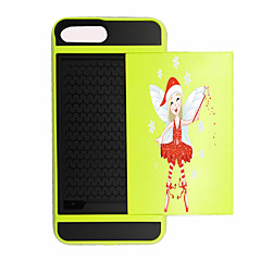 Для Бумажник для карт / Защита от удара Кейс для Задняя крышка Кейс для Новогодняя тематика Твердый PC для AppleiPhone 7 Plus / iPhone 7