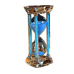 Hourglasses 15mins Novelty Toy Cylindrical Crystal Blue For Boys / For Girls 5 to 7 Years / 8 to 13 Years / 14 Years & Up