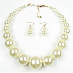 abordables Colección de perlas multicolor-Mujer Perla Conjunto de joyas - Perla, Perla Artificial, Black Pearl Europeo Incluir Rojo / Rojo oscuro / Negro / Blanco Para Diario