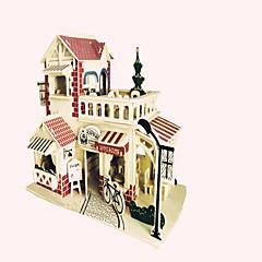 Legpuzzels Houten puzzels Bouw blokken DIY Toys Vechter Beroemd gebouw Chinese architectuur 1 Hout KristalModelbouw &