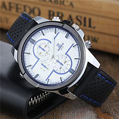 Men's Sport Watch Dress Watch Wrist watch Keychain Watch Quartz Silicone Band Cool Casual Black White Blue