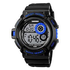 preiswerte Tolle Angebote auf Uhren-SKMEI Herrn digital Sportuhr Alarm / Kalender / Chronograph / Wasserdicht / Cool / Nachts leuchtend / Stopuhr PU Band Schwarz