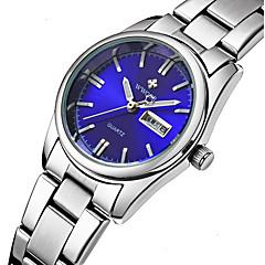 preiswerte Herrenuhren-WWOOR Damen Armbanduhr Wasserdicht Edelstahl Band Charme / Luxus / Freizeit Silber / Sony S626 / Zwei jahr