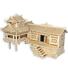 preiswerte -Holzpuzzle Chinesische Architektur Haus Profi Level Holz Karneval Geburtstag Kindertag