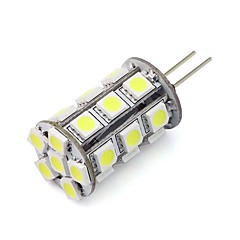 G4 LED Bi-pin Lights Tube 24 SMD 5050 270 lm Warm White Cold White Red Blue Green K Dimmable Decorative DC 12 V
