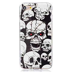 billige Etuier til iPhone 5S / SE-Etui Til Apple iPhone X iPhone 8 Plus iPhone 7 iPhone 6 iPhone 5 etui Lyser i mørket IMD Bagcover Dødningehoveder Blødt TPU for iPhone X