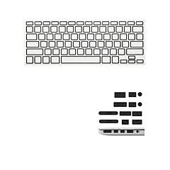 """お買い得  MAC 用キーボード カバー-最新のキーボードフィルムとアンチダストは、「/網膜ディスプレイと空気13を13 / """"15"""" MacBook Proのためのユニバーサルプラグ"""