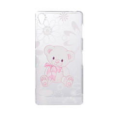 billige Etuier til Sony-Til Sony Xperia Z5 Z3 Taske Cover Cartoon Bear mønster Bagcover Soft TPU