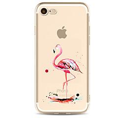 Назначение iPhone X iPhone 8 iPhone 7 iPhone 7 Plus iPhone 6 Чехлы панели Ультратонкий С узором Задняя крышка Кейс для Фламинго Мягкий
