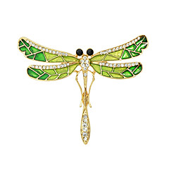 stras moda broșe formă de email fluture pentru femei