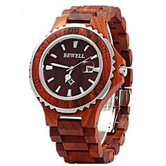 preiswerte Tolle Angebote auf Uhren-Paar Armbanduhr Quartz 30 m Kalender Holz Band Analog Luxus Modisch Holz Rot - Braun Rot Regenbogen Zwei jahr Batterielebensdauer