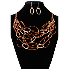 Necklace Reels Jewelry Wedding / Party Circular Design Alloy / Acrylic Women 1pc Gift As Per Picture