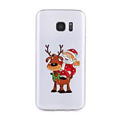 Funda Para Samsung Galaxy S7 edge S7 Transparente Diseños Cubierta Trasera Navidad Suave TPU para S7 edge S7 S6 edge plus S6 edge S6 S6