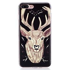 tanie Etui do iPhone 7 Plus-Kılıf Na Apple Etui iPhone 5 iPhone 6 iPhone 7 Świecące w ciemności IMD Czarne etui Zwierzę Miękkie TPU na iPhone 7 Plus iPhone 7 iPhone