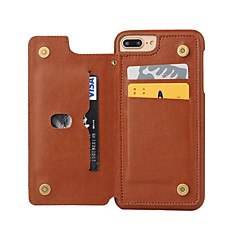 Недорогие Кейсы для iPhone 7-Кейс для Назначение Apple iPhone 8 iPhone 8 Plus iPhone 6 iPhone 7 Plus iPhone 7 Бумажник для карт Защита от пыли Кейс на заднюю панель