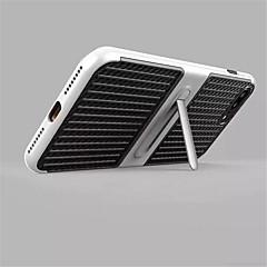 Til iPhone X iPhone 8 Etuier Med stativ Bagcover Etui Helfarve Hårdt Karbonfiber for Apple iPhone X iPhone 8 Plus iPhone 8 iPhone 7 Plus