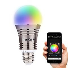 お買い得  LED 電球-YouOKLight 6.5W 500-550 lm E26/E27 LEDスマート電球 A60(A19) 8 LEDの ハイパワーLED Bluetooth 装飾用 温白色 クールホワイト ナチュラルホワイト RGB AC 100-240V