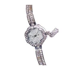 Damskie Modny Zegarek na bransoletce Kwarcowy sztuczna Diament Stop Pasmo Kwiat Na co dzień Srebro Różowe złoto