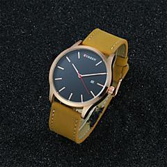 preiswerte Tolle Angebote auf Uhren-CURREN Herrn Armbanduhr Quartz 30 m Wasserdicht Leder Band Analog Freizeit Modisch Schwarz / Braun - Schwarz / Weiß Gold / Weiß Schwarz / Grau