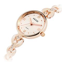 お買い得  メンズ腕時計-KEZZI 女性用 ファッションウォッチ リストウォッチ クォーツ クール 合金 バンド ハンズ カジュアル シルバー / ローズゴールド - シルバー ローズゴールド