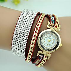 billige Armbåndsure-Dame Armbåndsur Modeur Quartz Imiteret Diamant Læder Bånd Sort Hvid Blåt Rød Brun Pink Rose