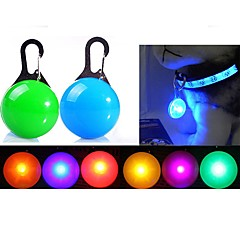 Dog LED Safety Light LED Lights Batteries Included Solid Plastic Red Green Blue Pink Transparent