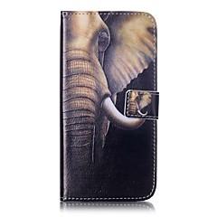 Недорогие Кейсы для iPhone 5-Кейс для Назначение Apple Кейс для iPhone 5 iPhone 6 iPhone 7 Бумажник для карт Кошелек со стендом Флип Чехол Слон Твердый Кожа PU для