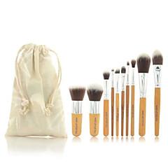 billige Makeup Børster-11 Brush Sets Rougebørste Øjenskyggebørste Øjenbryns Børste Concealer-børste Pudderbørste Foundationbørste Andre Børster Konturbørste