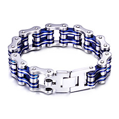 Men's Chain Bracelet Personalized Fashion Stainless Steel Bike Jewelry For Party Anniversary Daily Casual