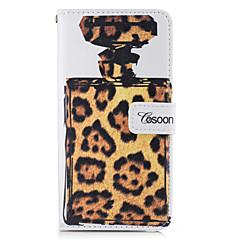 Для Бумажник для карт Кошелек со стендом Флип Кейс для Чехол Кейс для Леопардовый принт Твердый Искусственная кожа для AppleiPhone 7 Plus