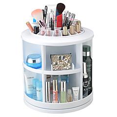 メイク用品収納 化粧品箱 / メイク用品収納 Plastic ゼブラプリント 丸型 26*26*27CM レッド / オレンジ / アイボリー