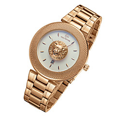 Herre Modeur Armbåndsur Unik Creative Watch Quartz Vandafvisende Legering Bånd Kranium Kreativ Sej Luksus Sølv Guld
