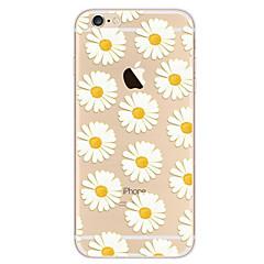 olcso iPhone 6s Plus tokok-Case Kompatibilitás Apple iPhone 8 iPhone 8 Plus iPhone 6 iPhone 7 Plus iPhone 7 Ultra-vékeny Minta Fekete tok Virág Puha TPU mert iPhone