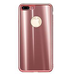 Для Защита от удара Кейс для Задняя крышка Кейс для Один цвет Мягкий TPU для Apple iPhone 7 Plus iPhone 7