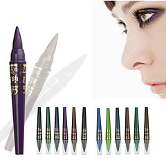 voordelige Ooglidinstrumenten-6 kleuren / 1set professionele make-up m.n oogschaduw potlood set waterproof gel eyeliner potlood kraal licht pen hoogtepunten eyeliner