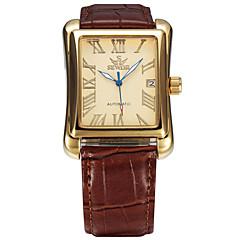 tanie Promocje zegarków-Męskie Sportowy Modny Zegarek na nadgarstek zegarek mechaniczny Nakręcanie automatyczne Kalendarz Skóra naturalna Pasmo Na co dzień