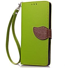 Для Бумажник для карт Кошелек Кейс для Чехол Кейс для Один цвет Твердый Искусственная кожа для HuaweiHuawei Y600 Huawei Y6/Honor 4A