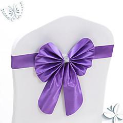 voordelige -10st stretch bowknots stoel sjerpen voor bruiloft stoelen back-decoraties elastische bogen voor hotel stoel te dekken decoratieve banden