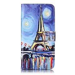 Mert Pénztárca Kártyatartó Állvánnyal Flip Case Teljes védelem Case Eiffel torony Kemény Műbőr mert AppleiPhone 7 Plus iPhone 7 iPhone 6s